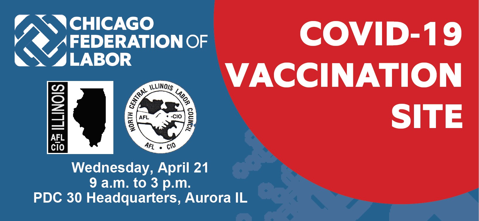 COVID-19 Vaccine Event for PDC 30 Members & Families: April 21