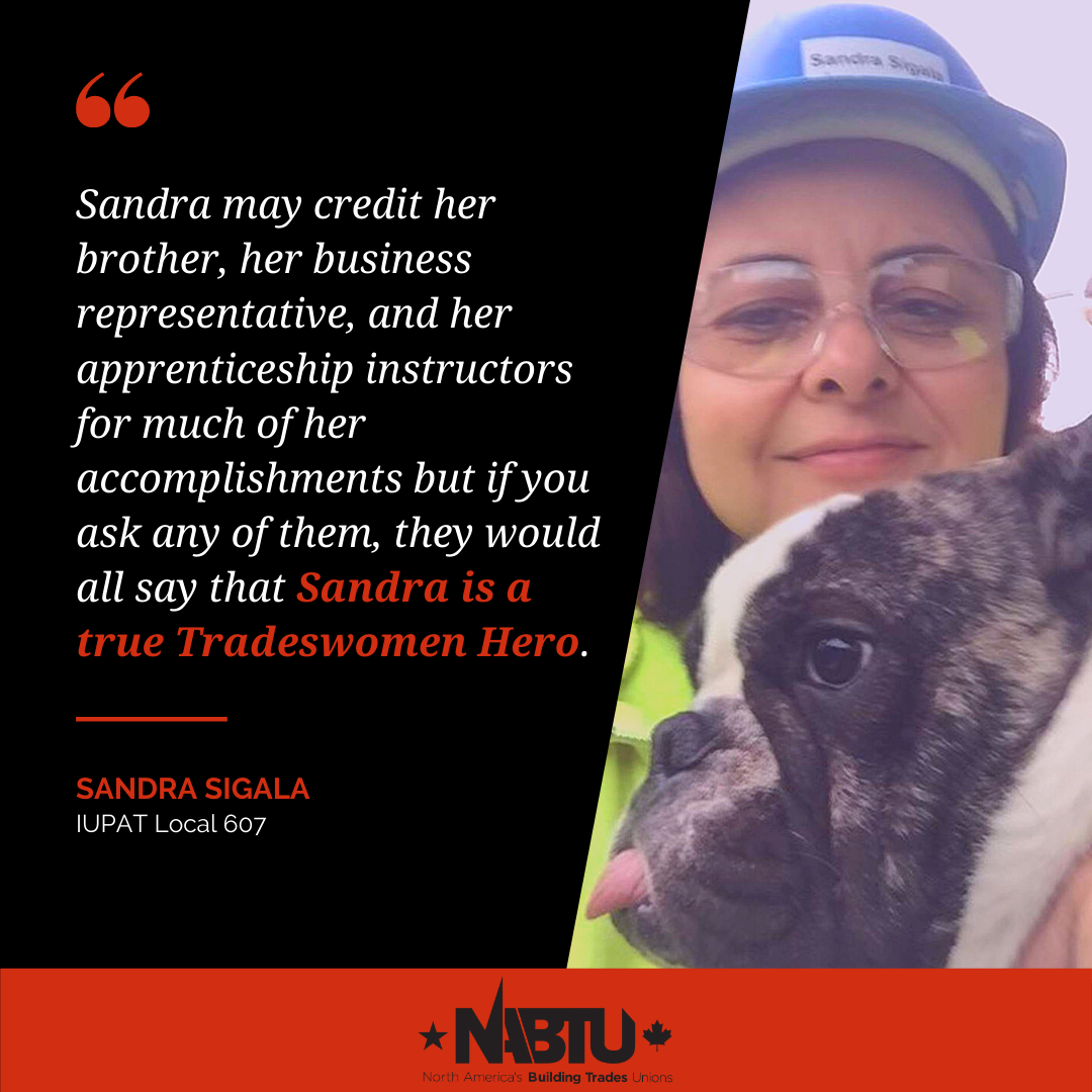 PDC 30 Member Sandra Sigala Wins International Tradeswomen Heroes Award