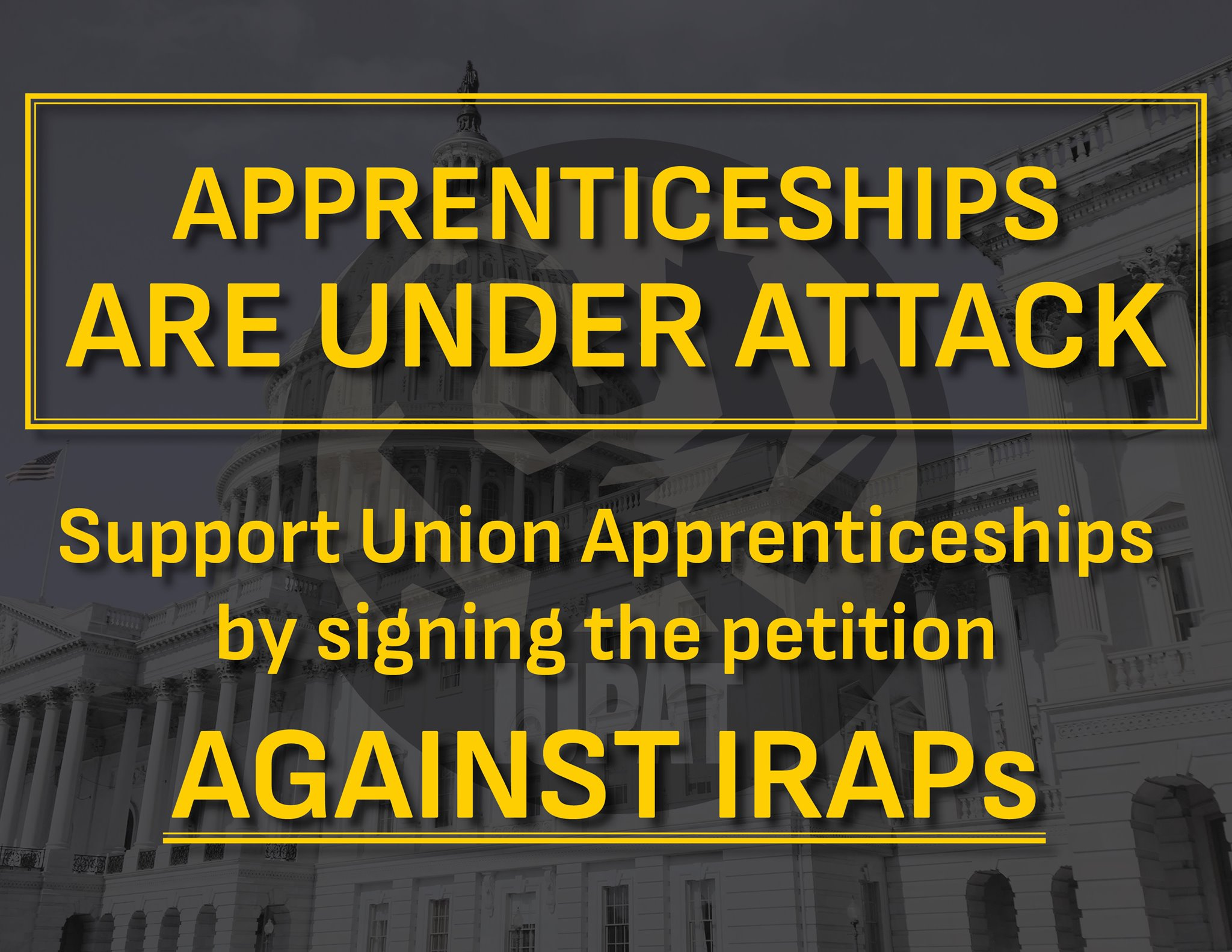 Submit Comments to Save Union Apprenticeships